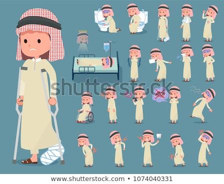 Emiraty zestaw chłopca szkoda pośpieszny Zdjęcia stock © toyotoyo