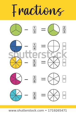 Set math subtraction worksheet Stock photo © bluering