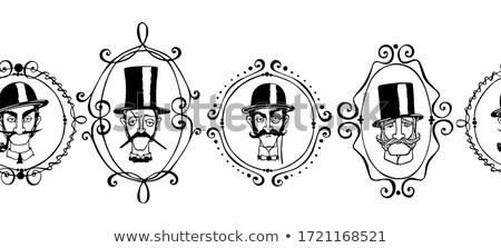 pattern of vector elements for gentlemen stock photo © netkov1