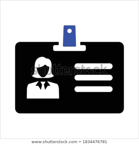 Identificazione carta foto uomo isolato trasparente Foto d'archivio © adamson