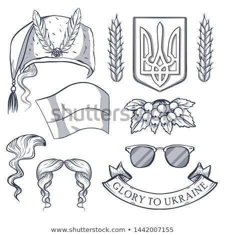 Ukrainian national distinguishing attributes Stock photo © netkov1