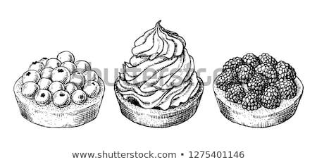 Bakkerij romig cake zoete dessert vintage Stockfoto © pikepicture