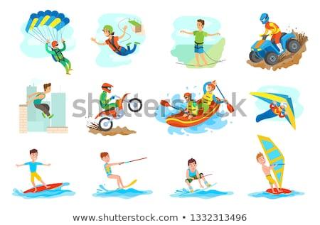 Hombre rafting verano deportes establecer personas Foto stock © robuart