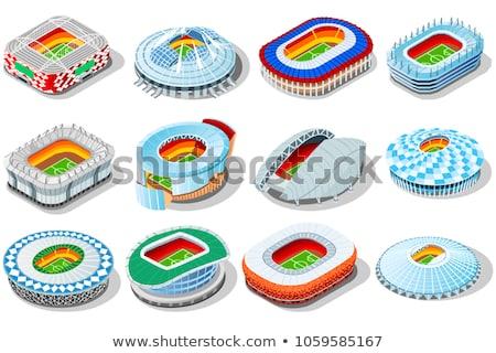 изометрический Футбол стадион иллюстрация спорт рисунок Сток-фото © artisticco