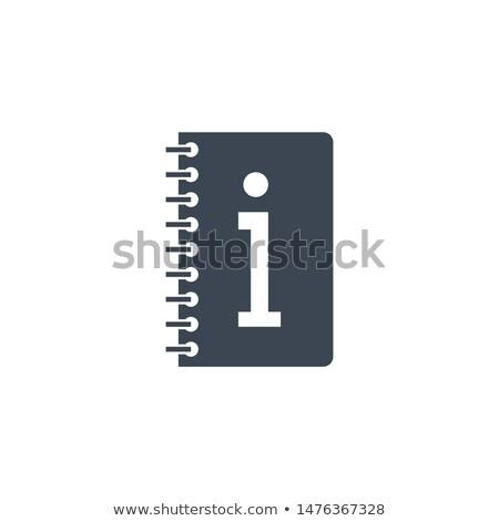 Instruction Book related vector glyph icon. Stock photo © smoki