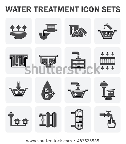 Water Treatment Filtration System Vector Icon stock photo © pikepicture