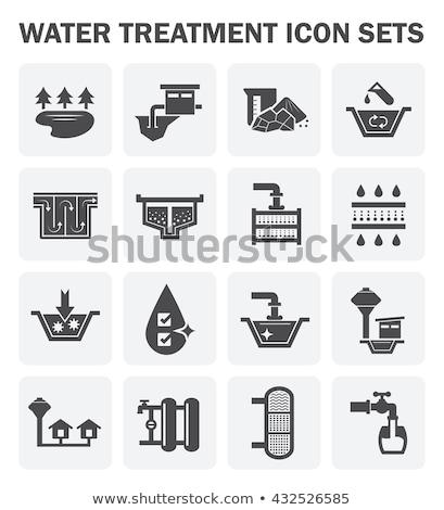 wody · leczenie · wektora · ikona · podpisania · cienki - zdjęcia stock © pikepicture
