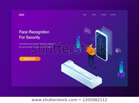 Isometric facial recognition technology Stock photo © frimufilms