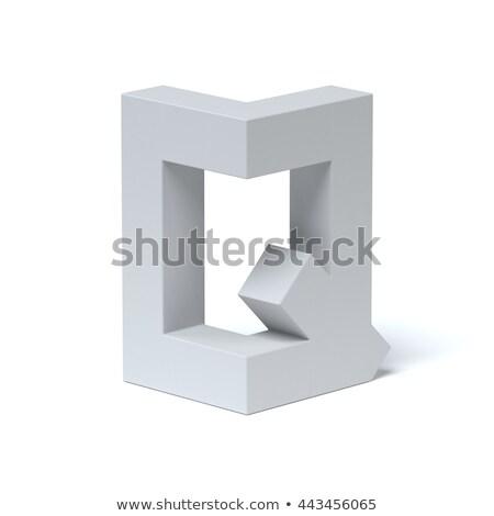 Blue extruded font Letter Q 3D Stock photo © djmilic