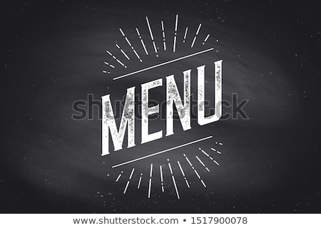 chefs · menu · muur · poster · teken - stockfoto © foxysgraphic