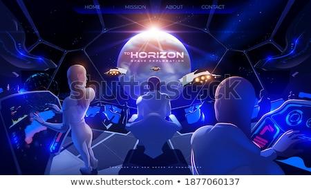 Atterraggio pagina avanzato futuristico intelligenza artificiale Foto d'archivio © RAStudio