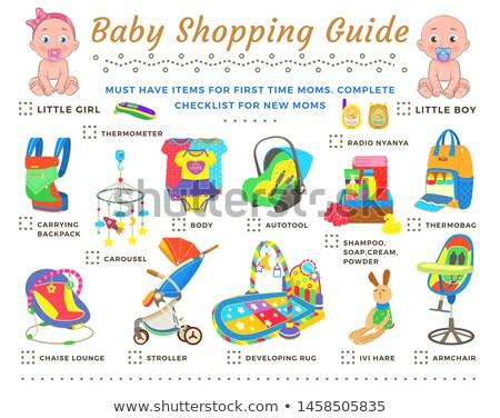 Baby winkelen begeleiden eerste tijd Stockfoto © robuart