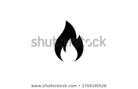 Rood · brandend · vlam · patroon · vector · brand - stockfoto © robuart