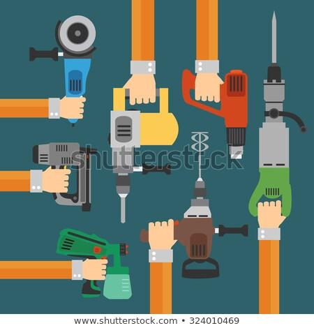 electricista · alambre · de · trabajo · eléctrica · panel - foto stock © oleksandro