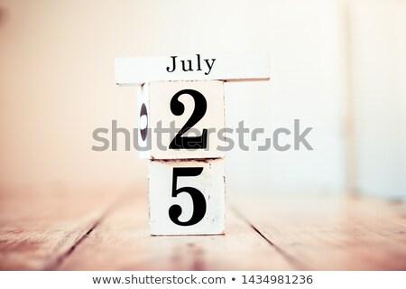 Rood twintig witte tabel Stockfoto © Oakozhan