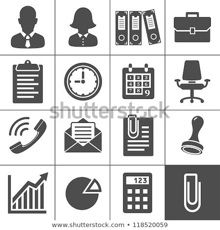 Finansowych rachunkowości wektora ikona Zdjęcia stock © pikepicture