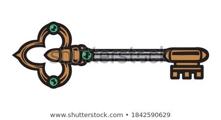 Key Filigree Old Design Antique Color Vector Stock photo © pikepicture