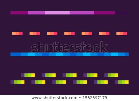 Neon Lines Set, Space Pixel Game, Shoot Vector Stock photo © robuart
