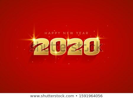 modern 2020 new year stylish calendar template design Stock photo © SArts