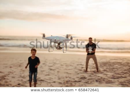 若者 飛行 リモコン ビーチ 海岸 ストックフォト © lightpoet