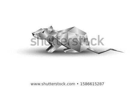 Rato branco isolado ilustração 3d mouse calendário Foto stock © ISerg
