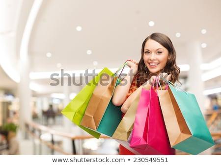 Kadın alışveriş merkezi satış insanlar renkli Stok fotoğraf © dolgachov