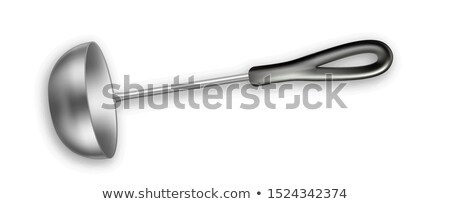 Ladle Metal Soup Tool Kitchenware Appliance Vector Stock photo © pikepicture