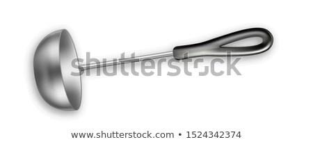 Merőkanál fém leves szerszám konyhai felszerelés eszköz Stock fotó © pikepicture