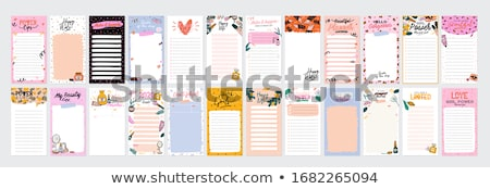 Daily Planner, to do list, Note paper Vector Stock photo © Andrei_