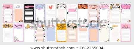 Minden nap tervező teendők listája levélpapír vektor matricák Stock fotó © Andrei_