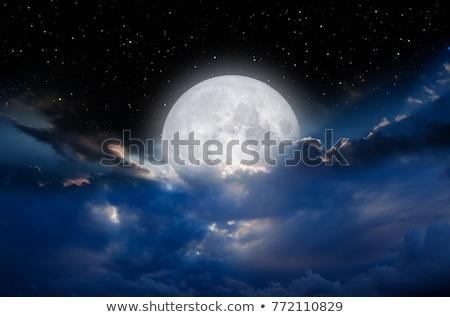 éjszaka hold fogyatkozás sötét égbolt horror Stock fotó © Anna_Om