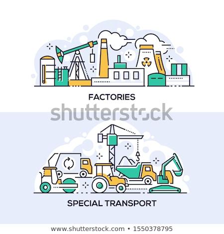 工場 特別 輸送 リニア バナー テンプレート ストックフォト © Decorwithme
