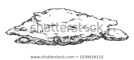 бурный Flying облаке ретро вектора природного Сток-фото © pikepicture