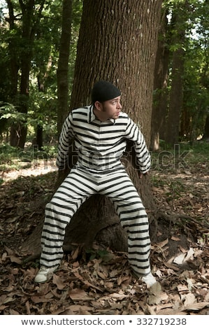 A prisoner escapes from prison. Jailbreak Stock photo © rogistok