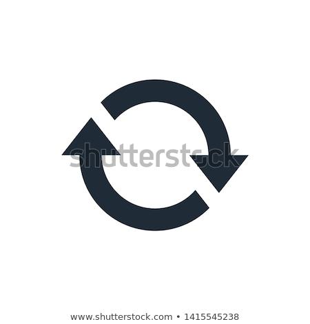 Drehung Pfeile Symbol Kreis wiederholen Stock foto © kyryloff