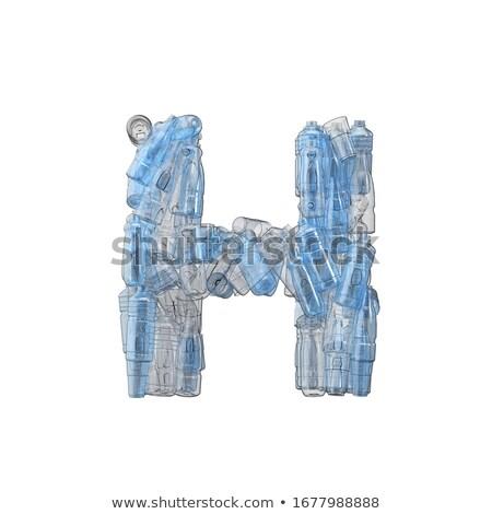 Lettre h plastique déchets bouteilles pollution écologie Photo stock © lightkeeper
