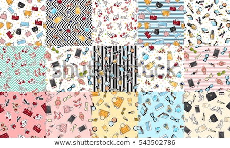 set of Seamless background fashion bags and accessories objects. Stock photo © Margolana