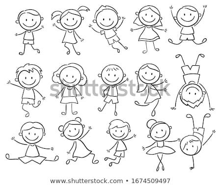 Set of stick figures, vector illustration. Stock photo © kup1984