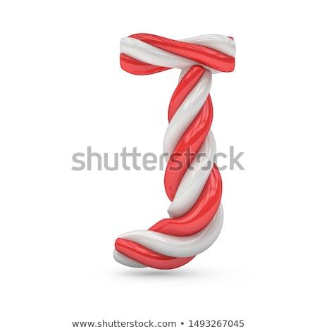 Rózsaszín betűtípus levél 3D renderelt kép illusztráció Stock fotó © djmilic