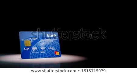 Crédit carte de débit noir bleu espace de copie 3d illustration Photo stock © make
