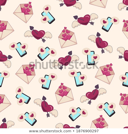 Dating App Seamless Pattern Vector Stock photo © pikepicture