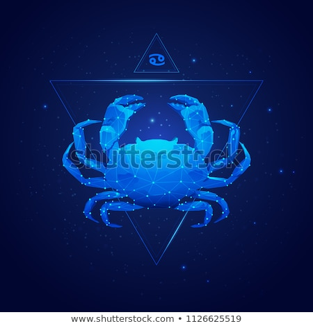 Black zodiacs Cancer stock photo © cidepix