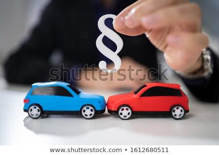 Abogado dos pequeño coches párrafo Foto stock © AndreyPopov