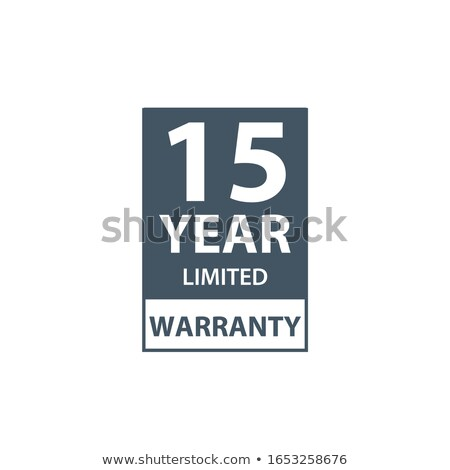 15 years limited warranty icon or label, certificate for customers, warranty stamp or sticker. vecto Stock photo © kyryloff