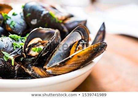 Zeevruchten citroen peterselie knoflook voedsel achtergrond Stockfoto © joannawnuk