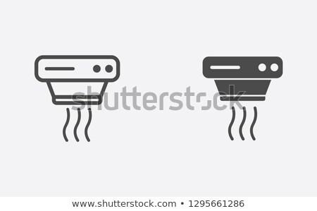 Alarm Signal Sensor Icon Vector Outline Illustration Stock photo © pikepicture