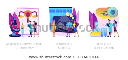 Fertility treatment and artificial insemination abstract concept vector illustrations. Stock photo © RAStudio