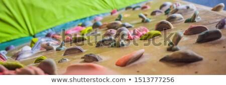 Rotsklimmen muur banner lang formaat Stockfoto © galitskaya