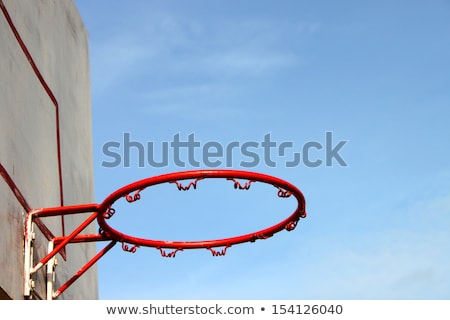 Basketball hoop and net on a goal post outdoors Stock photo © Giulio_Fornasar