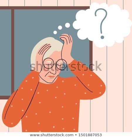 Alzheimer elmebaj memóriazavar betegség agy funkció Stock fotó © Lightsource